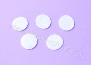 Фетровые кружочки (цвет белый), 35 мм. уп ок.50 шт