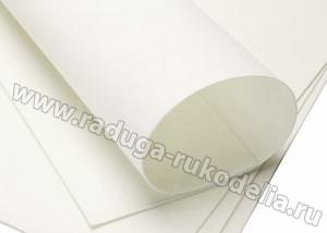 Фоамиран белый, 50*50 см толщина 1 мм. Китай
