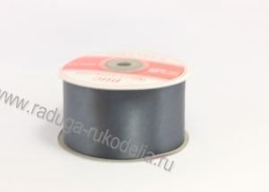 Атласная лента 5 см, серая В-128