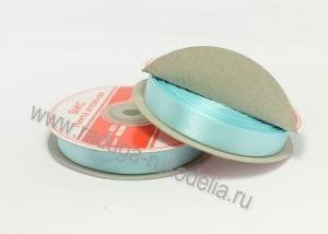 Лента атласная, 12 мм. голубая В-090