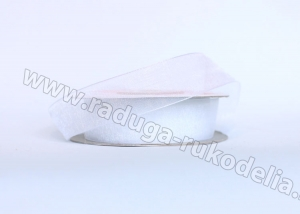 Органза белая, 25 мм