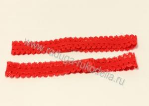Повязка эластичная ажурная 1,5 х 19 см, красная