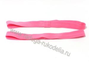 Повязка эластичная 1,5 х 19 см, розовая