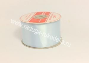 Атласная лента 5 см, бледно-голубой В-089
