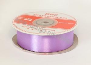 Лента атласная 25 мм, сиреневая В-081