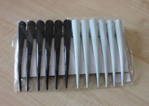 Заколки-уточки черные, белые  7,5 см