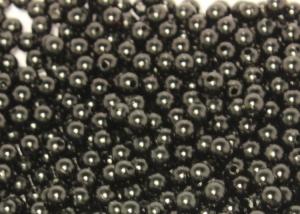 Бусины акриловые под жемчуг, черные, 6 мм (95-100 шт)
