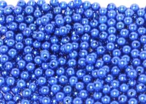 Бусины акриловые под жемчуг, синие,10 гр