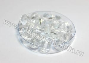Бусины стеклянные 8 мм. Прозрачные