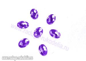 Кабошон овальный 13*18 мм, фиолетовый