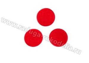 Фетровые кружочки (цвет красный), 40 мм. уп. ок.50 шт