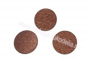 Фетровые кружочки (цвет шоколад). 25 мм, уп. ок. 50 шт