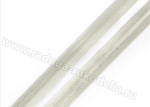 Косая бейка. Серебро. 15 мм