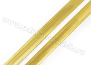 Косая бейка. Золото. 15 мм