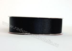 Лента атласная 25 мм. Цвет черный.-176