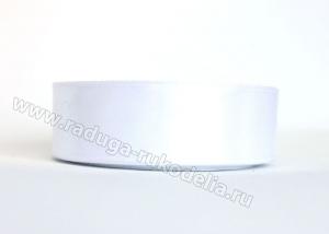 Лента атласная 25 мм. Цвет белый.