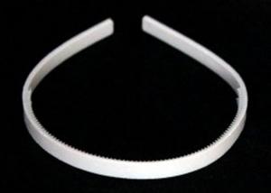 Ободок-основа пластик (цвет белый) 1см