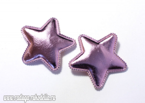 Патч звезда розовая 25 мм