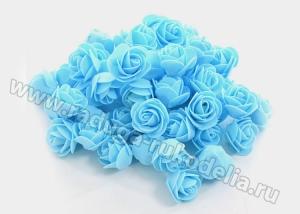 Розы из фоамирана. Голубые.