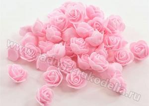Розочки из фоамирана. Розовые.