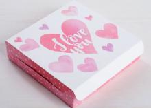 Коробка складная Для любимых, 14 × 14 × 3,5 см