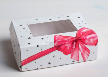 Коробка складная Подарок, 10 × 8 × 3.5 см