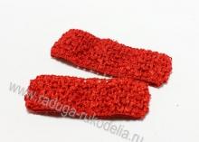 Повязка ажурная 4 см, красная