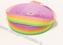 Лента репсовая Градиент радуга, 25 мм