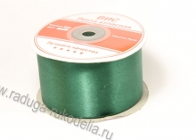 Атласная лента 5 см,темно- зеленая В-126