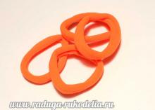 Резинки Оранжевые, бесшовные. 45 мм № 17