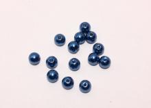 Бусины акриловые Синие, 6 мм (95-100 шт)