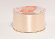Атласная лента 5 см, светлый персик-028