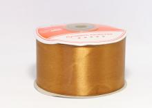 Атласная лента 5 см, коричневая -135