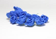 Букетик розочек 12 штук, размер розы 2 см. .синие