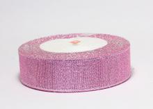 Парча светло-розовая, 25 мм