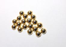 Полубусины под золото, 6 мм (ок. 100 шт)
