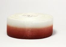 Органза градиент бело-бордовая, 40 мм