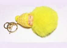 Подвеска Малыш на рюкзак, сумочку, ключи. 11 см, желтый