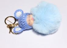Подвеска Малыш на рюкзак, сумочку, ключи. 11 см, голубой