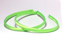 Ободок пластик+ткань, светло-зеленый, 1 см