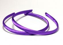 Ободок пластик+ткань, фиолетовый, 1 см