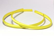 Ободок пластик+ткань, желтый, 1 см