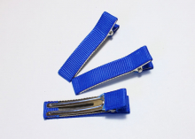 Зажим металл+ткань, 5 см, синий