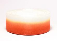 Органза градиент бело-красная, 40 мм