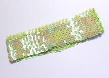 Повязка с пайетками, 4,5 см, Светло-зеленая