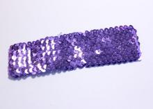 Повязка с пайетками, 4,5 см, Фиолетовая