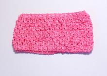 Повязка ажурная 7 см, Ярко-розовая
