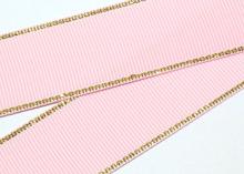 Репс с люрексом Золото Розовый 123, 38 мм