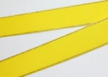 Репсовая с люрексом Золото, Желтая 645, 25 мм