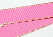 Репс с люрексом Золото Ярко-розовый 156, 38 мм